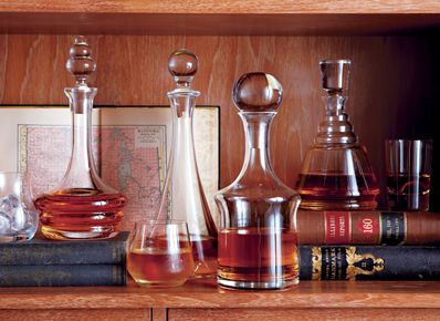 Crate & Barrel Decanters