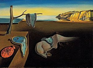 Salvador Dali's 'The Persistence of Memory' while art historians can debate it's meaning, to me, I often think about this when