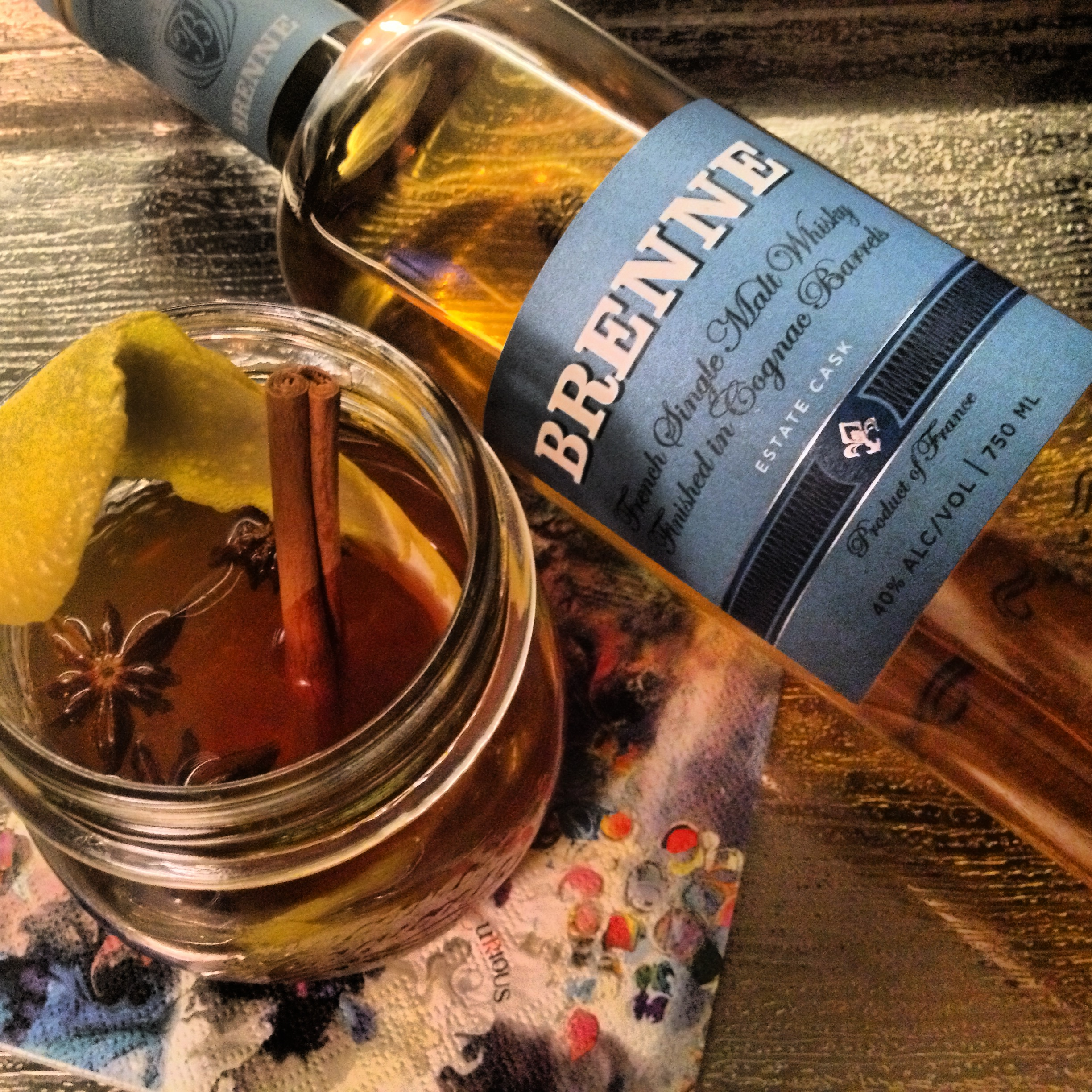 Hot toddy recipes with brenne whisky the whisky woman for Hot tea with whiskey