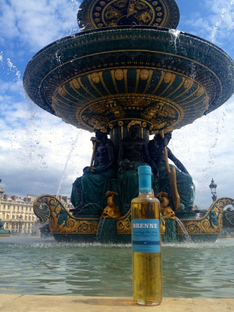 Is it good luck to drop a bottle of whisky into the Fontaines de la Concorde!? #BrenneVoyage