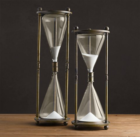 Restoration Hardware Hourglass